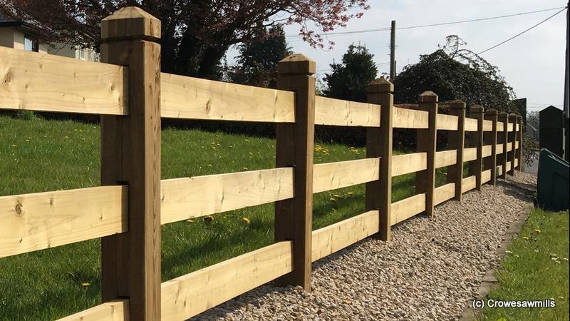 3 Rail Mortice Fence