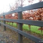 D-Rail Timber Fence  3-Rail