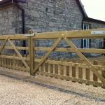 Picket Timber Gates