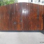 Double Set Timber Gates